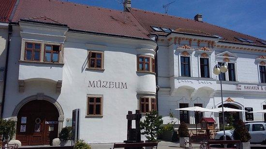 Pezinok, Slovakia: Magnifique façade du musée