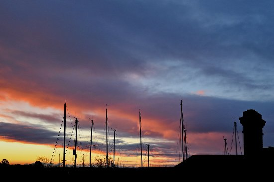Sunrise over Britannia House B&B