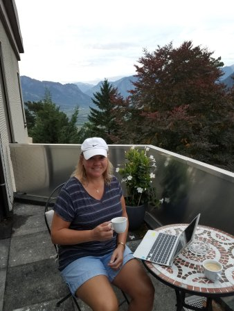 Pfaefers Dorf, Швейцария: Patio on gartenloge
