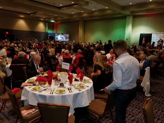 Ocean Center: Bill Lewis of Fort Lauderdale attending the Volusia County Republican Party Lincoln Day Dinner i