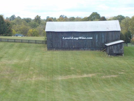Lawrenceburg, KY: The barn seen from the front porch