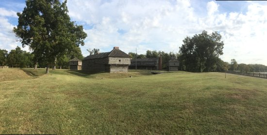 Fort Massac State Park: Fort Massac as seen from the river.