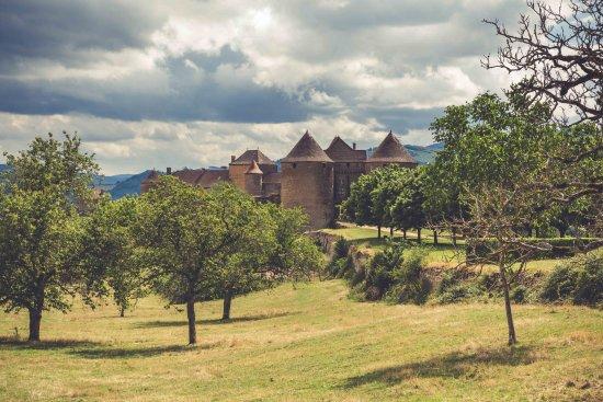 Cluny, France : arrivée sur le château