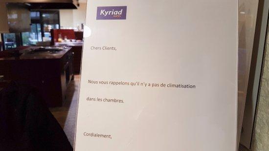 Kyriad Tarbes - Odos : Attention, chez Kyriad Tarbes, il n'y a pas de clim'!!!
