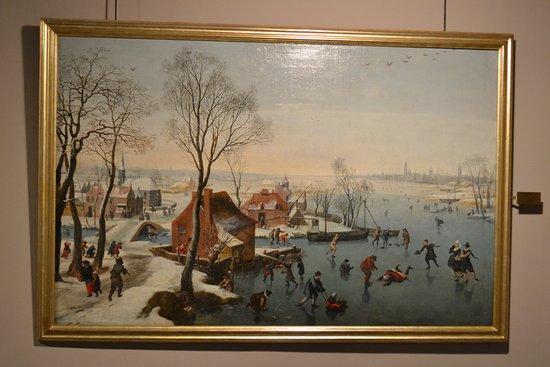 Musei  di Strada Nuova: Skaters on the Ice, Jan Wildens. Palazzo Rosso
