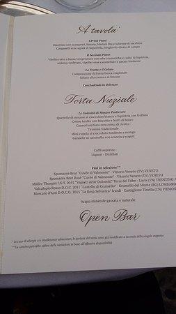 Sulbiate, Italia: menu