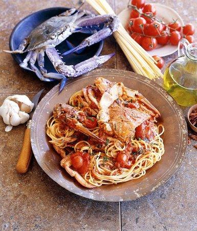 Brighton, Australien: Spaghetti Blue Swimmer Crab