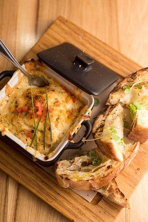 Geneva, IL: SMALL PLATES:  Artichoke + Crab Fonduta