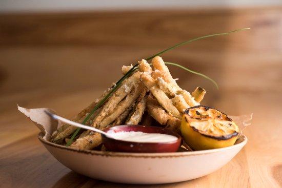 Geneva, IL: SMALL PLATES:  Zucchini Fritters