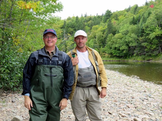 Margaree Forks, Canada: My husband (left) with Jimmie Pedersen