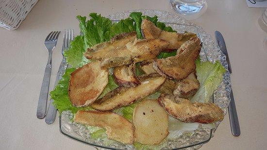 Porcini fritti.(una porzione)