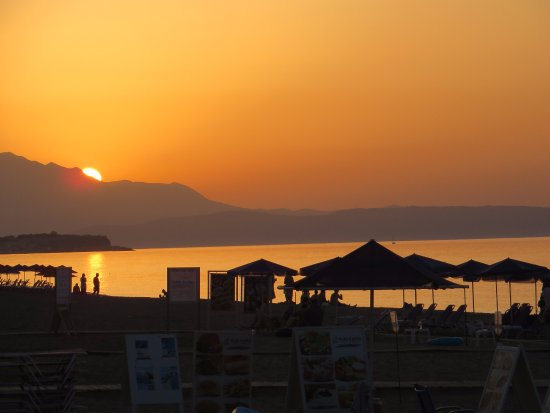Platanidia, Greece: Great view of the sunset