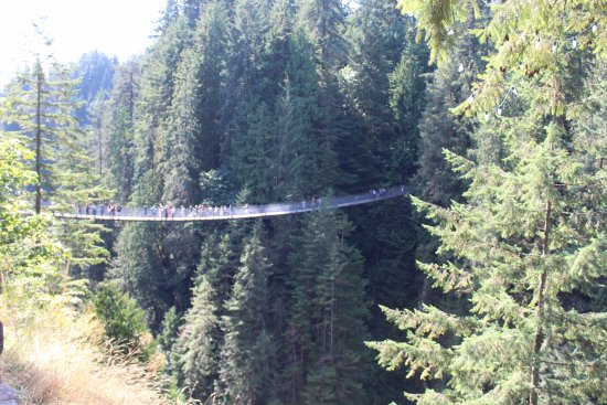 North Vancouver, Kanada: the suspension bridge taken from the Cliffwalk...another perspective