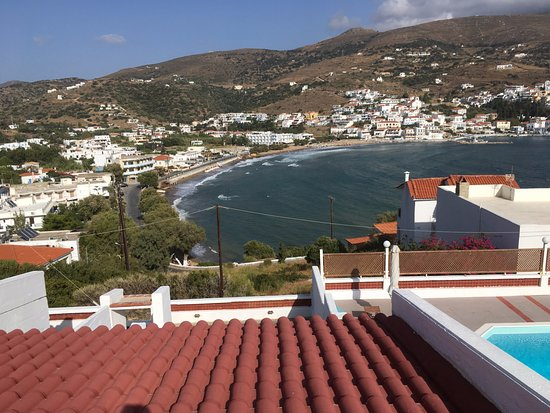 Mare Vista Hotel - Epaminondas: View of the resort of Batsi from a balcony, Mare Vista Hotel, Andros
