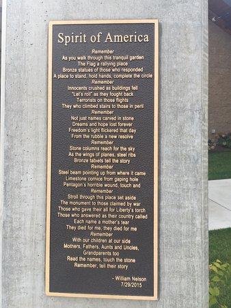 Cashmere, WA: Spirit of America Plaque