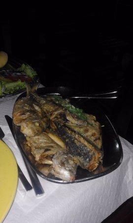 O Sacas: Fritada de peixe com migas estavam uma maravilha