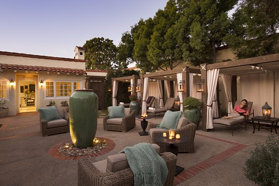 Rancho Santa Fe, Kalifornia: Spa Relaxation Courtyard
