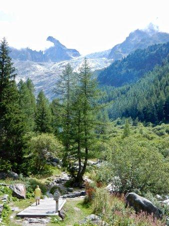 Trient, Szwajcaria: Chemin pour aller à la buvette