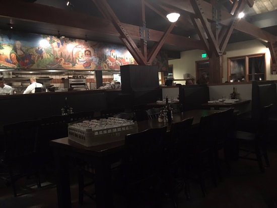 Wilson, WY: Open kitchen in restaurant
