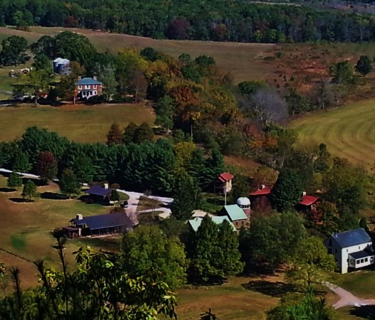 Millboro, VA: Bird's Eye-View from Overlook