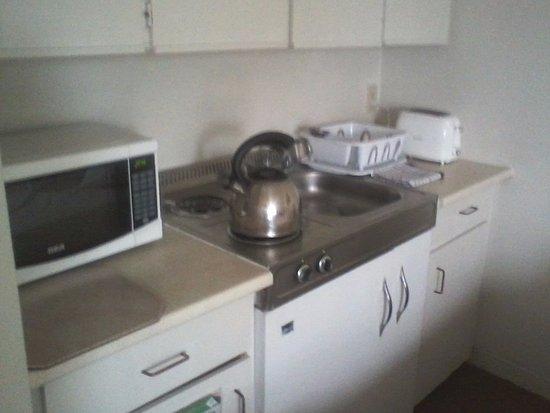 alexandra hotel kitchenette with microwave small fridge 2burner electric stove