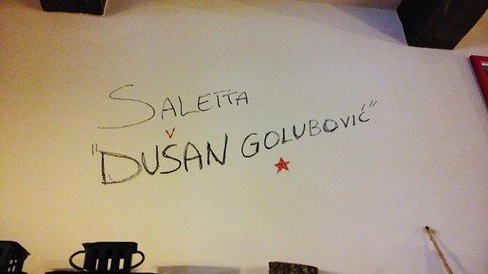 Colfiorito, Italien: La saletta intitolata a Dusan Golubovic