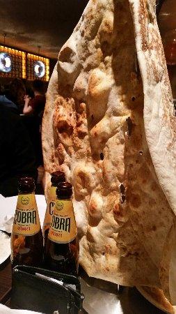 Akbar's : Huge Naan bread at Akbars Manchester