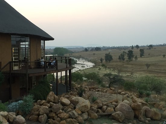 "Rorke's Drift, Sudáfrica: view from the ""Reynolds"" room"