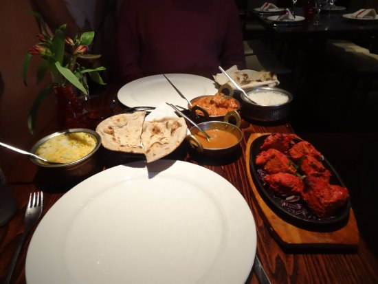 Chicken Sizzler And Tikka Masala Picture Of 4500 Miles From Delhi