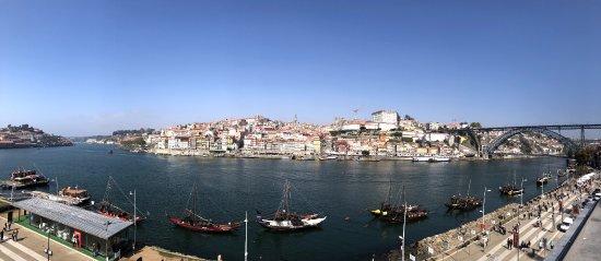 A view across the Douro River from Vila Nova de Gaia.