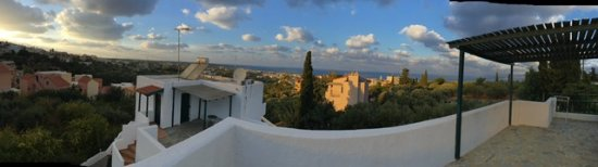 Piskopiano, اليونان: Panoramic view from terrace of room 102
