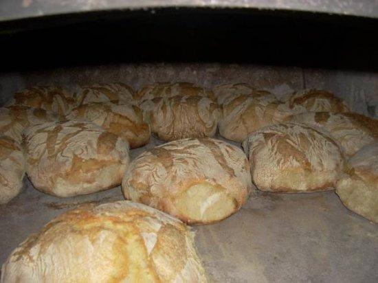 Orsogna, Italy: pane al forno a legna