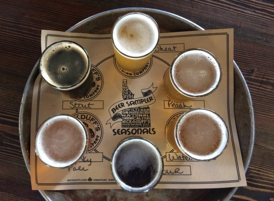 MickDuff's Brewing Company: The beer sampler