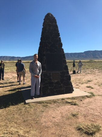 San Antonio, NM: obelisk and me at ground zero