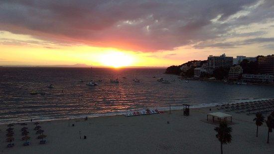 Hotel Son Matias Beach: Sunrise across Son Matias beach, October 2017