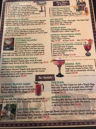 Restaurant La Posta Panama Menu
