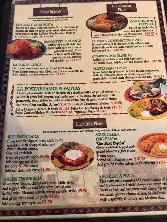 Mesilla, Nuevo Mexico: menu