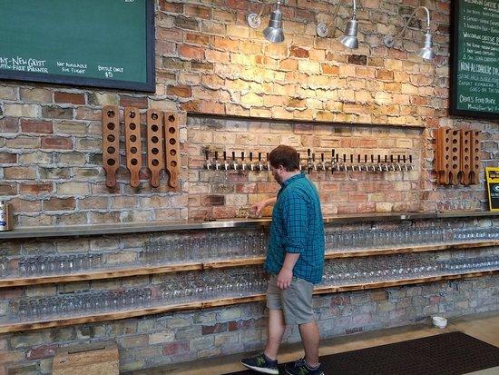 Baileys Harbor, WI: Beer tap wall