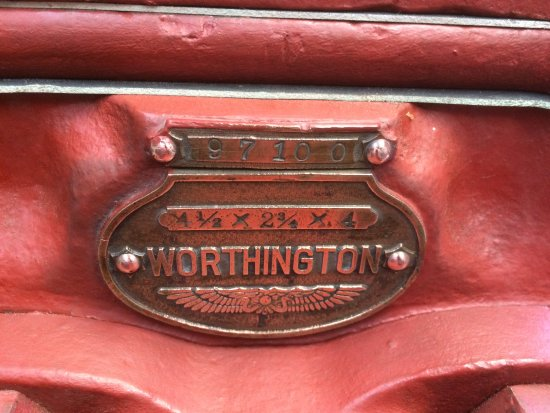Hereford, UK: pump name plate with serial number