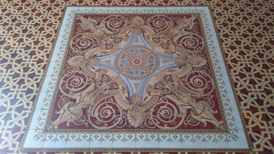 Real Gabinete Portugues Da Leitura : Detalhe do piso