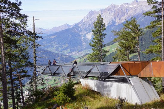 Fliess, Австрия: Toller Ausblick auf das Tal