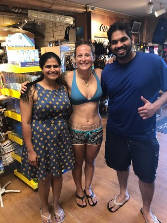 Koloa, HI: after our dive with Sam (our incredible instructor)