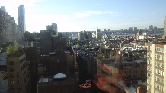 Row NYC Hotel: View from Room 1803....Hudson River with cruise ship in port