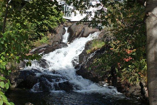 Waterfalls at Camden Harbor