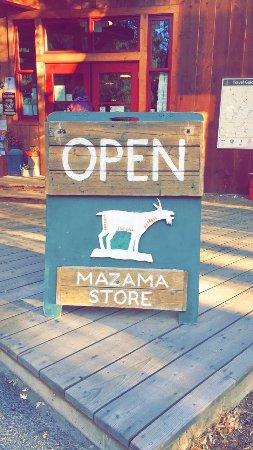 Mazama, WA: store front