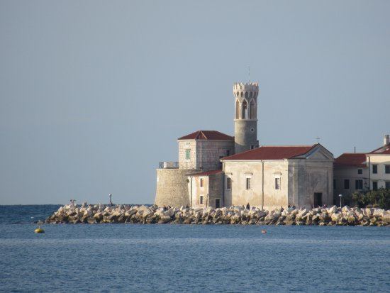 Church of St. Francis of Assisi: View from across the harbor.