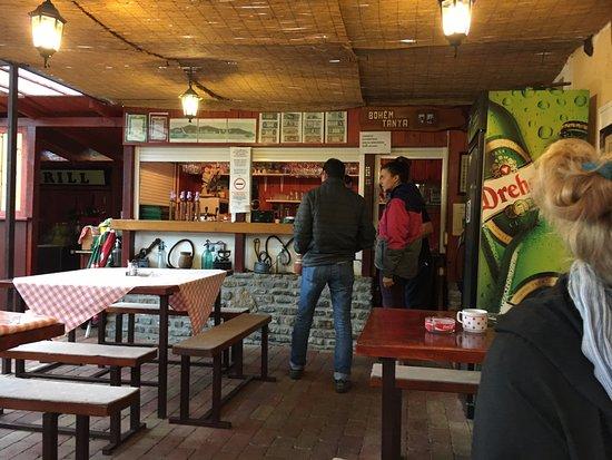 Balazs Kisvendeglo: The bar area
