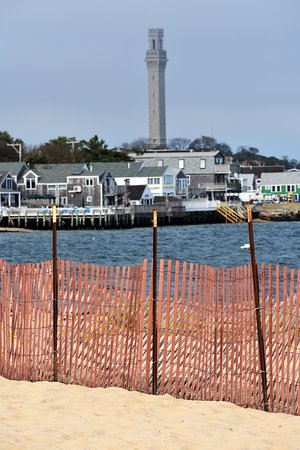 Provincetown Inn Resort & Conference Center: View of Provincetown from the onsite beach