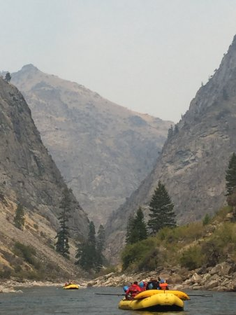 Middle Fork of the Salmon River: high hills all around the river - keep a look out for big horn sheep, bald eagles, and black bea