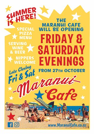 Maranui Surf Lifesaving Cafe: Opening soon for Nights!